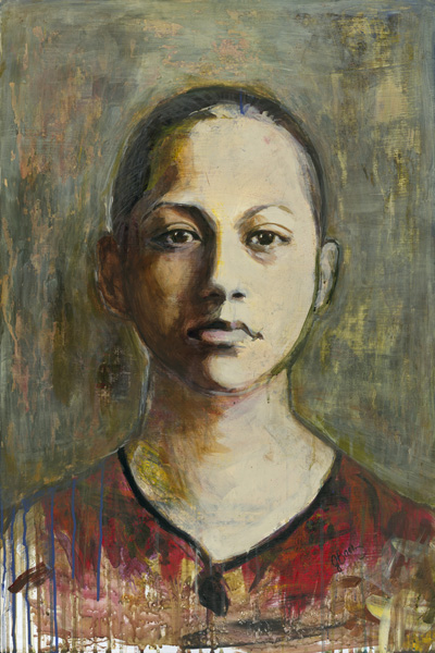 Joan Baez Emma Never Again A Painterly Portrait Of Young Activist Emma Gonzalez By Joan Baez At Seager Gray Gallery In Mill Valley Ca In The San Francisco Bay Area Joan